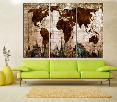3 panel split abstract world map canvas print black and red color gallery wrapped canvases we print high quality printer on canvas 3 cm thick gumiabroncs Images