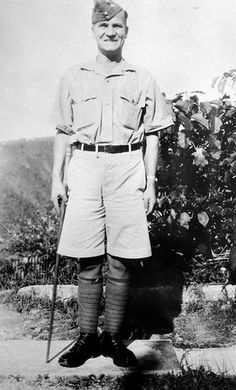 """Company Sergeant-Major J.R. Osborn of """"A"""" Company, The Winnipeg Grenadiers, Jamaica, circa 1940-1941. Killed in action at Hong Kong on 19 December 1941, CSM Osborn was posthumously awarded the Victoria Cross"""
