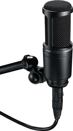 Audio-Technica AT2020 Studio Microphone - Recording vocals at home? Here's your affordable large-diaphragm condenser mic. And with SPL handling up to 144 dB, the AT2020 is a natural on loud sources.
