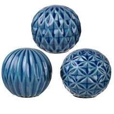 World Menagerie 3 Piece Giroflee Ball Sculpture Set Decorative Objects, Decorative Accessories, Decorative Pillows, Decorative Bowls, Decor Pillows, Different Textures, Different Patterns, Joss And Main, La Rive