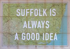 David Buonaguidi Suffolk is Always a Good Idea Print Club London Screen Print