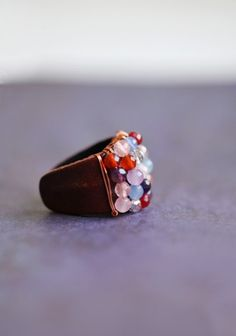 sweet melodies leather ring by Nakamol