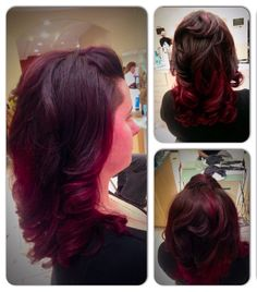 Red ombré Red Ombre, Long Hair Styles, Beauty, Beleza, Long Hair Hairdos, Long Hairstyles, Long Hairstyle, Long Haircuts
