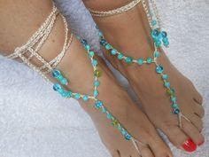 Crochet descalzo playa sandalias boda joyería de Yoga zapatos azul turquesa de MyKnitCroch en Etsy https://www.etsy.com/mx/listing/233684023/crochet-descalzo-playa-sandalias-boda