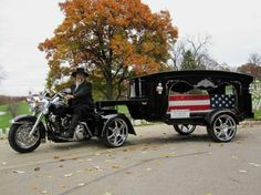 BIKER hurst | Clear Creek Coach is a motorcycle hearse service for hire ...