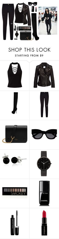 """""""Spy mission with Mark"""" by got7outfits ❤ liked on Polyvore featuring Miss Selfridge, Frame Denim, Mulberry, Karen Walker, Bling Jewelry, I Love Ugly, Forever 21, Chanel, Marc Jacobs and Smashbox"""