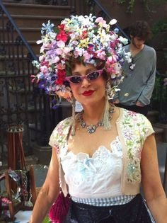 I have a fondness for women of all ages and cultures who wear flowers on their heads. Purely Patricia Fox