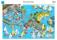 Healthcare Support Discussion Map Illustrations on Behance