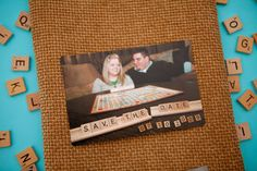 Scrabble: a simple but cute Save the Date idea. Indigo Envelope is happy to incorporate such themes into your wedding designs.