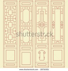 Traditional chinese classic window, door, screen frame pattern