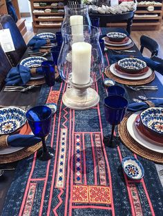 Ethnic Trending: Hmong tribal indigo batik applique pillows @ Pottery Barn.