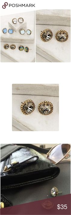 """Anthropologie Nolia Studs Earrings NWT Nolia stud by Sorrelli anthropologie ❤️.               Family-run jewelry label Sorrelli designs event-ready statement pieces illuminated with sparkling Swarovski crystals. Swarovski crystal, brass Imported Style No. 37122298 Dimensions 0.5""""L, 0.5"""" diameter. See pic of stock photo for size idea. Brand New Anthropologie Jewelry Earrings"""