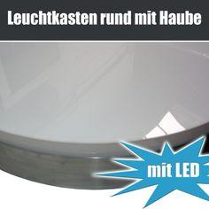Einseitige Leuchtkästen,Leuchtreklamen Und Leuchtwerbung Rund Mit Haube,  Aus Deutscher Herstellung Per Handarbeit Direkt Beim Leuchtkasten Hersteller