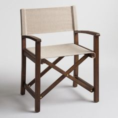 One of my favorite discoveries at WorldMarket.com: Rustic Brown Wood Ryker Director Chair Frames Set of 2