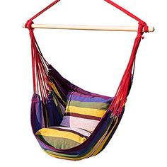 Prime Garden Hanging Rope Hammock Chair Porch Swing Seat for Indoor or Outdoor Spaces- Max. Lbs 275 wicker chair set Gone are the days when . Small Backyard Gardens, Backyard Garden Design, Modern Backyard, Large Backyard, Rustic Backyard, Garden Spaces, Indoor Hammock Chair, Rope Hammock, Camping Hammock