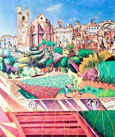 Joan Miro - Montroig, l'église et le village - 1919