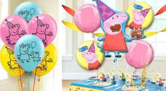 Our wholesale balloons come in all shapes and sizes to create a fun-filled party ambiance. Whatever balloons you need, look no further choose balloons and balloon accessories in bulk for cheapest prices. 3rd Birthday, Birthday Parties, Peppa Pig Balloons, Peppa Pig Party Supplies, Party City Balloons, Wholesale Balloons, Wholesale Party Supplies, Party Tableware, Birthday Decorations
