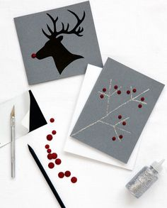 Make silhouette holiday cards with this tutorial.
