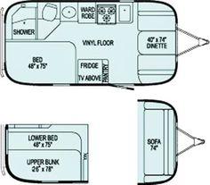 The Vintage Airstream Bambi Safari Travel Trailer Floor Plan