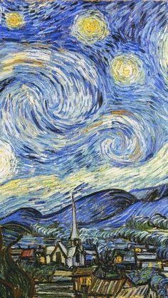 Vincent van Gogh starry night classic painting art illustration iphone 6 wallpaper - Apocalypse Now And Then Wallpaper Para Iphone 6, Van Gogh Wallpaper, Painting Wallpaper, Painting Art, Aot Wallpaper, Iphone 6 Plus Wallpapers, Cover Wallpaper, Painting Walls, Nature Wallpaper