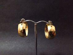 Vintage AVON Gold Tone Hoop Earrings