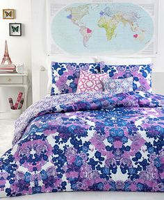 Runi 3 Piece Reversible Comforter Sets - Bed in a Bag - Bed & Bath - Macy's