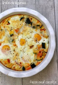 Today I offer a vegetable casserole egg casserole! It is a low calorie complete dish because a lot of vegetables in this dish, and eggs for protein intake. We can possibly accompany this rice gratin or pasta to … Veggie Recipes, Vegetarian Recipes, Snack Recipes, Healthy Recipes, Beef Recipes, Cooking For Two, Cooking Time, Cooking Light, Cooking Classes