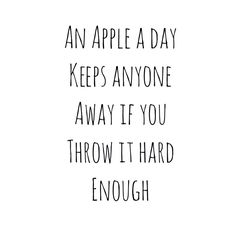 haha an apple//