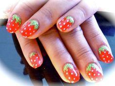 Strawberry Nail Design