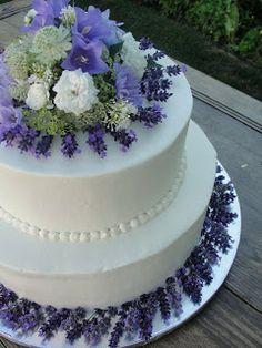 levander wedding cake