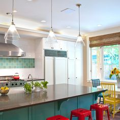 Love the color....turquoise, red, and mustard! Latest From Houzz: Tips From the Experts
