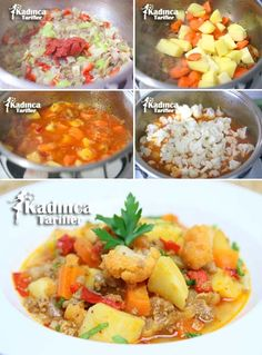 Minced Meat Potato Cauliflower Meal Recipe How To? - Minced Meat Potato Cauliflower Meal Recipe How To? – Female recipes – Delicious, practical and - How To Cook Cauliflower, Mashed Cauliflower, Cauliflower Recipes, Dinner Recipes For Kids, Fall Recipes, Kids Meals, Turkish Recipes, Ethnic Recipes, Healthy Vegetables