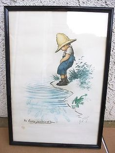 """#Vintage georges redon signed print #""""never drink the water"""" #framed ,  View more on the LINK: http://www.zeppy.io/product/gb/2/301900098297/"""