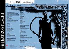 Immagine di Danijel #Zezelj  per il manifesto della Stagione 2006-07 del #Teatro #Storchi di #Modena