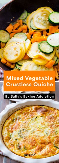 Mixed Vegetable Crustless Quiche Recipe