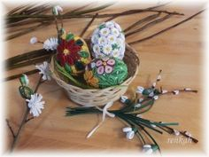 quilling, spring, Easter egg 3d Quilling, Easter Eggs, Decorative Bowls, Spring, Home Decor, Weaving, Decoration Home, Room Decor, Interior Decorating