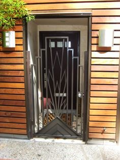 Art Deco gate.  Beautiful!