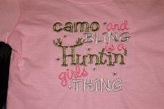 Camo and Bling T-shirt or Bodysuit on Etsy, $18.00