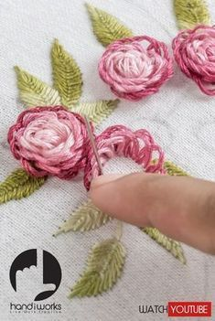 Japanese Embroidery Designs In this Hand Embroidery Tutorial you will learn how to stitch Flower Patterns by hand on any clothes. You can start with own style of pattern and flowers are beautiful crafts for you to make. Embroidery Stitches Tutorial, Learn Embroidery, Silk Ribbon Embroidery, Crewel Embroidery, Hand Embroidery Designs, Cross Stitch Embroidery, Machine Embroidery, Embroidery Ideas, Embroidery Thread