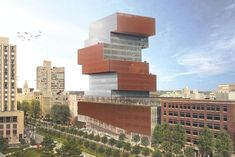 Image 1 of 9 from gallery of KPMB Architects Designs Stacked Data Sciences Tower for Boston University. Image Courtesy of KPMB Architects Toronto Architecture, Boston Skyline, Genius Loci, Boston University, First Time Home Buyers, Library Design, Data Science, A 17