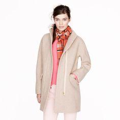 Stadium-cloth cocoon coat