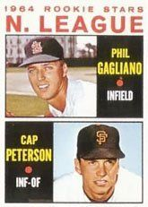 1964 Topps Regular (Baseball) Card# 568 Gagliano/Peterson of the San Francisco Giants ExMt Condition by Topps. $15.00. 1964 Topps Regular (Baseball) Card# 568 Gagliano/Peterson of the San Francisco Giants ExMt Condition