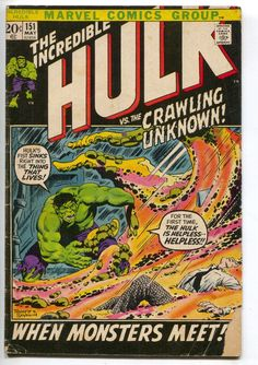 Incredible Hulk 151 Marvel 1972 GD VG Herb Trimpe archie Goodwin