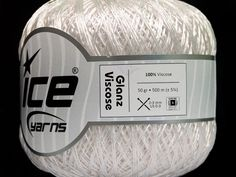 Ice Yarns Ply Viscose fashion yarn,white//metallic lot of 2 88 yds each
