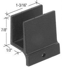 Crl 1 2 Wide Sliding Shower Door Bottom Guide By Crl 3 30 1 3