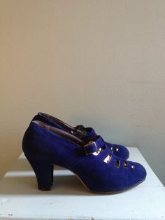 1930s Blue Suede Shoes by queenofsaba on Etsy, $69.00