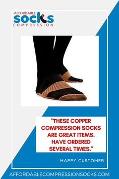f53ef52de6c6ea Copper Fit Compression Socks - Support Stockings ~ Reduce Swelling