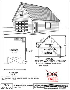 Sheds by home depot 2 story house two story two car for 30 x 60 garage plans