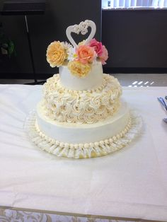 Created by Becky Baxa 50 th anniversary   Real roses on top.  2013