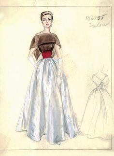 Vintage - Esquisses et Croquis - Mode - Patou - années 1950/1960